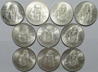 Mexico, 100 Pesos, 1978, BU, 10 Pieces, 6.428 Ounces Actual Silver