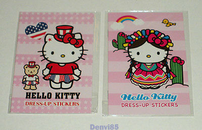 VERY CUTE! Pair of 2012 Sanrio HELLO KITTY Dress-Up Sticker Sets! NEW!