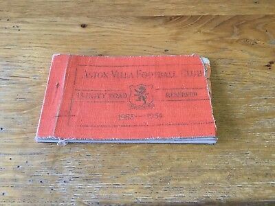 Aston Villa Season Ticket 1953 1954