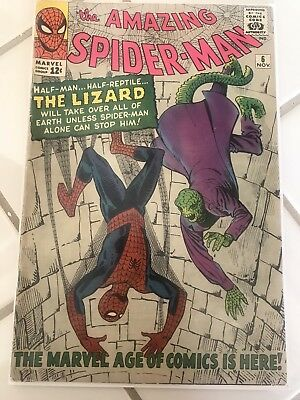 The Amazing Spiderman 1st Appreance Of The Lizard, Key Issue!