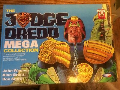 The Judge Dredd Mega Collection Daily Star 81-86 Hardcover First Edition 1990