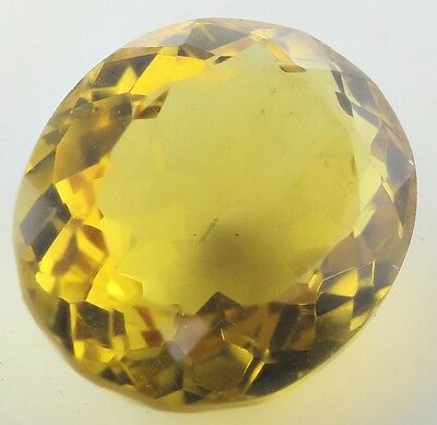 LARGE 17x14mm OVAL-FACET NATURAL AFRICAN GOLDEN CITRINE GEMSTONE (APP £319)