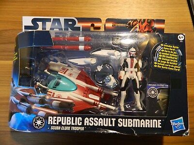 Star Wars Clone Republic Assault Submarine Fahrzeug Hasbro