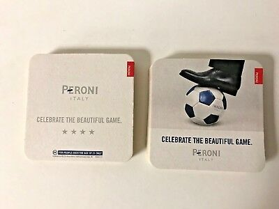 Peroni Italy Beer Coasters Celebrate The Beautiful Game Futbol Soccer *20 NEW FS