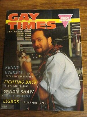 Vintage Gay Times September 1986 featuring Kenny Everett & Sandie Shaw