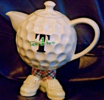 Paul Cardew  walking Golf Ball Teapot