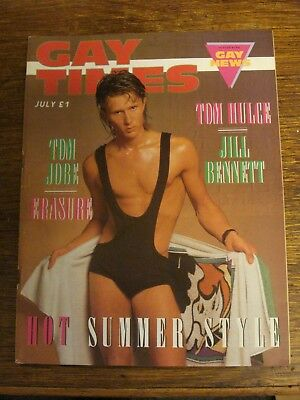 Vintage Gay Times July 1986 featuring Tom Hulce