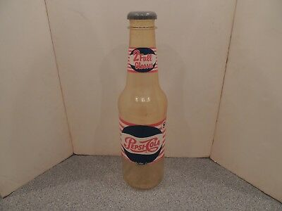 Vintage Large Pepsi Cola Bottle Advertising Plastic Bank