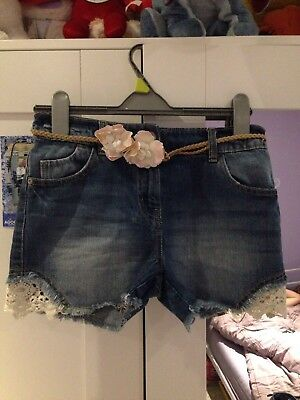 Next Girls Denim Shorts Age 11