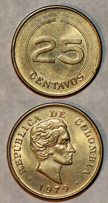 Colombia - 25 Cents, Centavos - Original Coin from 1979 - Circulated