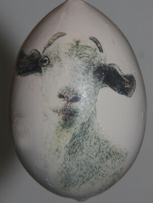 gourd Easter egg, yard or Christmas ornament with goat