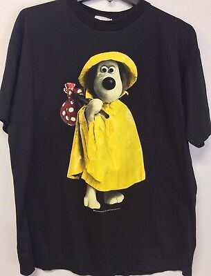 Rare Vintage 1989 Wallace And Gromit T Shirt Size Large