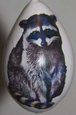 gourd Christmas ornament with raccoon