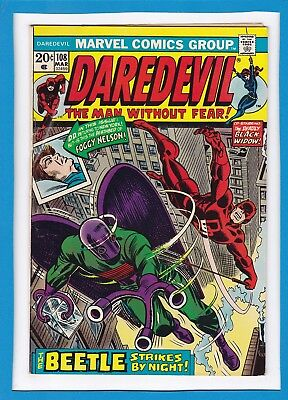Daredevil And The Black Widow #108_March 1974_Vf Minus_The Beetle_Bronze Age!