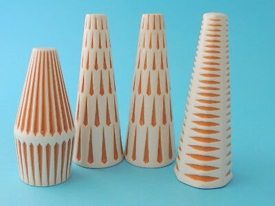 Hornsea Pottery 1960s Spruce, Harlequin and Conifer Salt & Pepper - Clappison