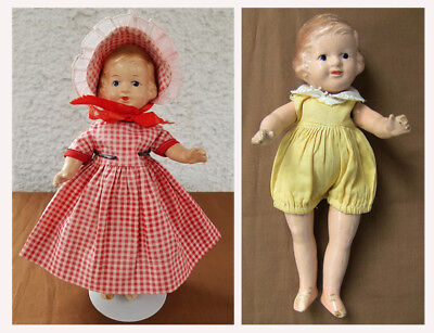 Vintage Lot 2 R&B Arranbee Storybook Composition Dolls 1930s Repairs Parts