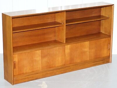 Gibbs Hand Made In England Light Mahogany Dwarf Open Bookcase With Sliding Doors