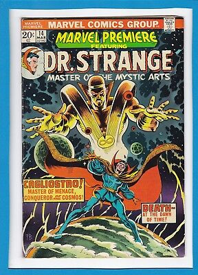"""Marvel Premiere #14_March 1974_Vg_Dr. Strange_""""death At The Dawn Of Time""""!"""