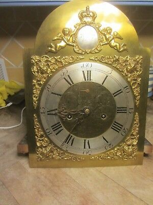 Kibworth Leicester 8 Day Clock Face Movement N Kirk  12 X 16 1/2