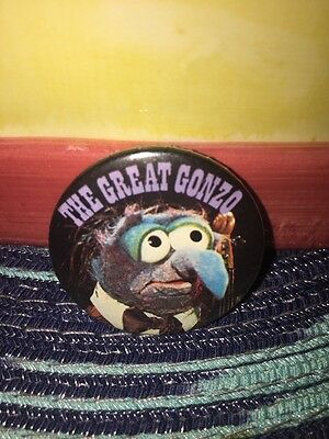 Sesame Street The Great Gonzo Vintage Button