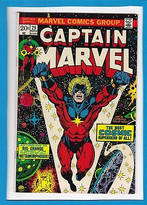 Captain Marvel #29_November 1973_Very Fine Minus_Thanos_Jim Starlin_Bronze Age!