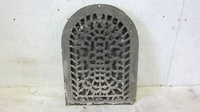 Antique Arched Victorian Cast Iron Wall Register Heat Grate Wall Garden Art