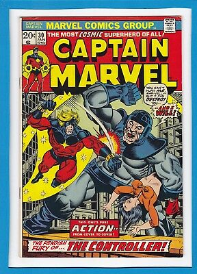 Captain Marvel #30_January 1974_Fine+_Iron Man_Thanos_Jim Starlin_Bronze Age!
