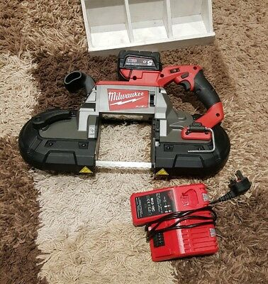 Milwaukee m18 18v cbs125 fuel deep cut band saw with 1 5.0ah battery