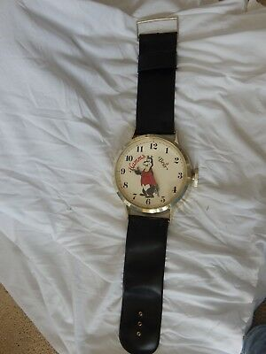 Hamm's Beer BEAR wall watch clock, sign, vintage, nice strap GREAT condition