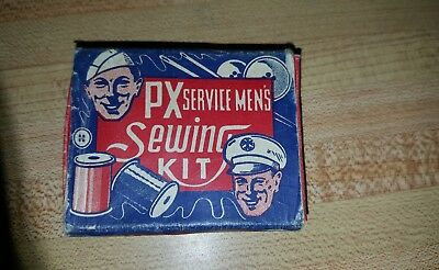 Ww2 Px Service Mens Sewing Kit With Original Cardboard Box