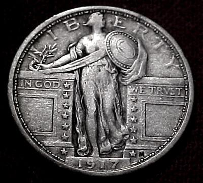 1917 Type I Standing Liberty Quarter................min. Bid .01 & No Reserve!
