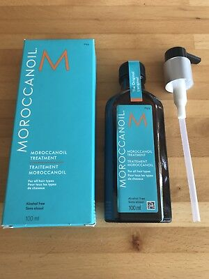 Moroccan Oil Treatment - Sealed - NEW In Box With Pump Dispenser- 100 ml