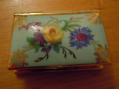 Meissner Limoges Book Shape Trinket Box , Hand Painted