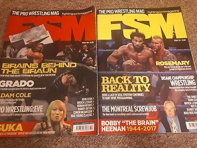 FSM Fighting Spirit Magazines x2 Issue 150 and 151 Pro Wrestling WWE