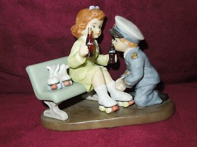 "Coca Cola Simpler Days Figurine ""GOOD TIMES WITH YOU ARE MOST MEMORABLE"" 1999"