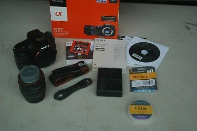 Sony Alpha SLT-A57 Digital SLR Camera (Black) Kit w/ DT SAM 18-55mm Lens w/extra