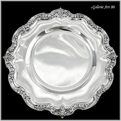 """Antique French Sterling Silver 10.4"""" Serving Platter Louis XV FAUN / SATYR"""