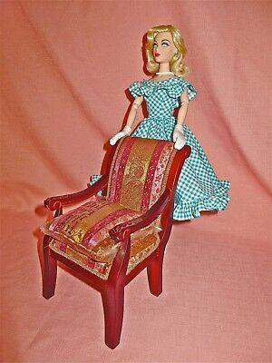 Gene/Tyler doll Furniture: Tonner 1/4 Scale Bordeaux Chaise/Chair
