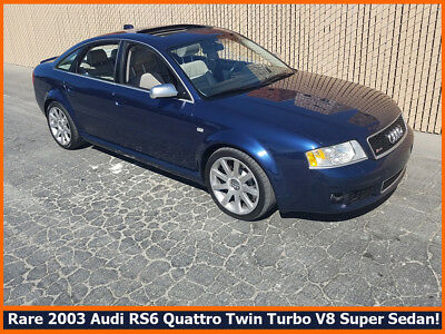 2003 Audi RS6 RS6 QUATTRO RARE COLLECTIBLE 2003 AUDI RS6 QUATTRO TWIN TURBO V8 SUPER SEDAN.