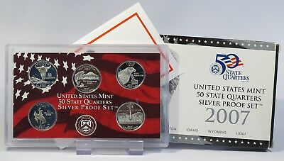 USA 2007 State Quarters Silver Proof Set