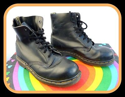 Men's Dr Martens Patent Leather Safety Boots UK Size 9 Gay Interest Skinhead