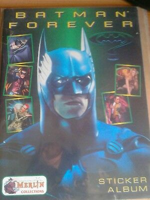 Batman forever album figurine vuoto sticker album  nuovo Merlin