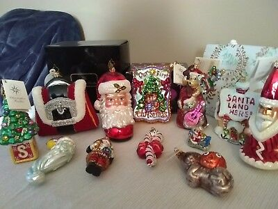 Lot Of 11 Christopher Radko Fantastic Ornaments, Letting go Cheap! Gently Used