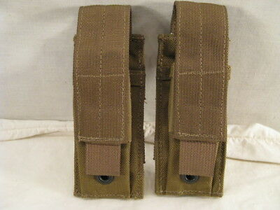 2 New Usmc 9Mm Single Pouches Coyote Brown Eagle Industries M9 Mag Pouch