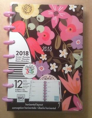 "NEW 2018 MINI Happy Planner ""SEASONAL"" 12 Month HORIZONTAL Planner"