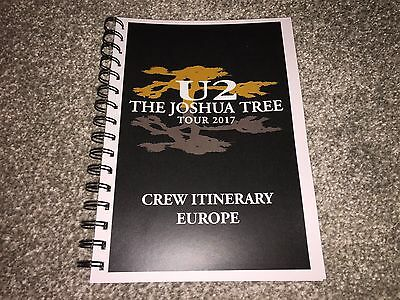 U2 'Joshua Tree' 2017 Tour EUROPEAN Itinerary