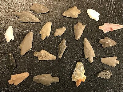 20 Argentine Pre Columbian Arrowheads Indian Artifacts
