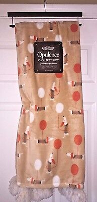 """Dachshund Doxie Dog & Balloons Plush Pet Throw Blanket 50"""" x 60"""" by Opulence"""