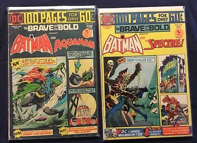 BRAVE AND THE BOLD - Batman - 114 & 116 - 100 Page Giant - Spectre Aquaman