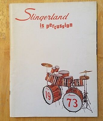 Slingerland is Percussion * Drum Catalog 1973 * 4-color * 80 pp. + Cover